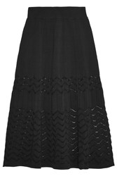 A.L.C. Snyder Stretch Knit Midi Skirt Black