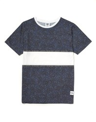 Hype X The Idle Man Midnight Speckle Chest Panel T Shirt Navy