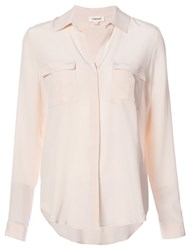 L'agence Chest Pocket Blouse Women Silk Xs Pink Purple