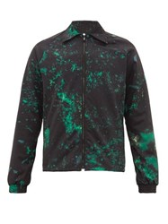 Cottweiler Cruise Abstract Print Technical Blouson Jacket Black Green
