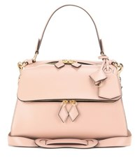 Victoria Beckham Small Pocket Leather Crossbody Bag Pink