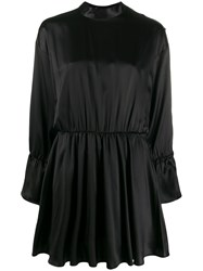 Federica Tosi Fitted Flared Dress Black