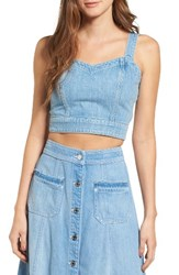 7 For All Mankindr Women's Mankind Denim Bustier