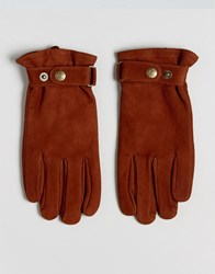 Dents Wells Nubuck Leather Gloves Tan