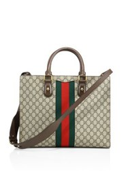 Gucci Printed Canvas Tote Beige