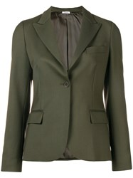 P.A.R.O.S.H. Classic Single Breasted Blazer Green