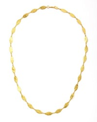 Gurhan Willow 24K Gold Leafy Necklace