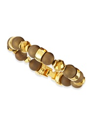 Jose And Maria Barrera Gold Plated And Druzy Beaded Bracelet