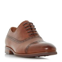 Dune Promise Punch Hole Detail Oxford Shoe Tan