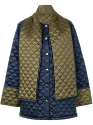 Msgm Back Print Quilted Jacket 60