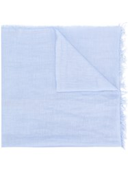 Le Tricot Perugia Frayed Scarf Blue