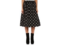 Comme Des Garcons Women's Polka Dot Plain Weave Full Midi Skirt Black
