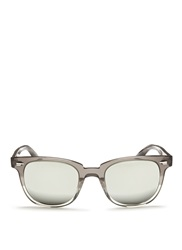 Oliver Peoples 'Masek' Mirror Lens Sunglasses Grey