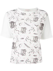 Olympia Le Tan Printed Panel T Shirt White