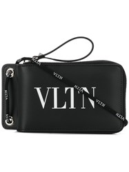 Valentino Vltn Neck Wallet Black