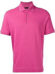Z Zegna Classic Polo Shirt Pink Purple