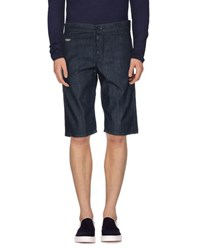Dirk Bikkembergs Sport Couture Denim Denim Bermudas Men Blue