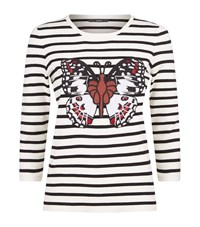 Set Striped Butterfly Top Female White