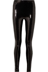 Tom Ford Sequined Stretch Jersey Leggings Black