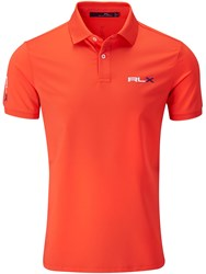 Rlx Ralph Lauren Performance Solid Polo Orange