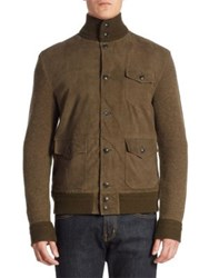 Polo Ralph Lauren Merino Wool And Cashmere Cardigan Olive