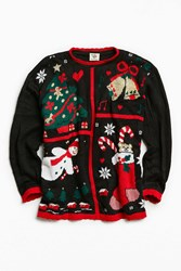 Urban Outfitters Vintage Holiday Decoration Sweater Black