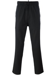 Ymc Drawstring Waist Trousers Black