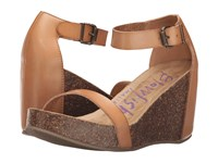 Blowfish Heritage Nude Dyecut Pu Women's Wedge Shoes Brown
