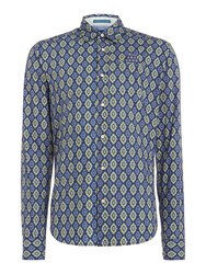 Scotch And Soda Men's Crispy Poplin Shirt Blue