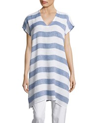 Eileen Fisher Long Striped Linen Tunic Chambray