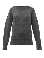 A.P.C. Ethan Oversized Wool Sweater Grey