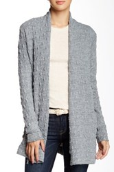 Three Dots Cable Knit Cardigan Gray