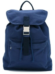 A.P.C. Snap Buckle Backpack Blue