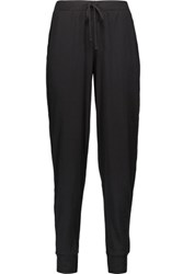 Yummie Tummie By Heather Thomson Pima Cotton Blend Pajama Pants Black
