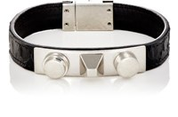 Saint Laurent Men's 3 Clous Bracelet Black