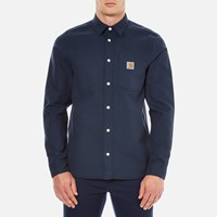 Carhartt Men's Long Sleeve Tony Shirt Navy Rigid