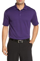 Cutter And Buck Men's Big Tall 'Genre' Drytec Moisture Wicking Polo College Purple