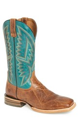 Ariat Men's 'Hesston' Cowboy Boot Peppered Tan Leather