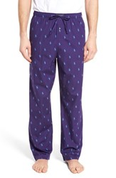 Ralph Lauren Men's Polo Cotton Lounge Pants Plum Candy New England Blue