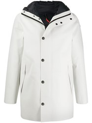 Rrd Feather Down Hooded Coat White