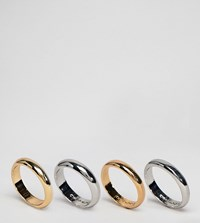 Cheap Monday Conspiracy Ring Set Gold