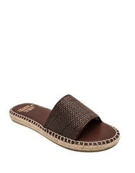 Andre Assous Sindr Woven Leather Sandals Brown