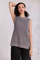 Silence And Noise Maddox High Low Muscle Tank Sweater Grey