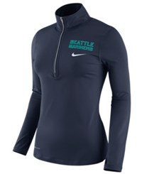 Nike Women's Seattle Mariners Element Pullover Navy