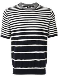 Paul Smith Ps By Short Sleeve Stripe Jumper Men Cotton S Blue