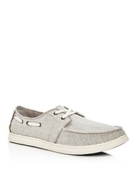 Toms Men's Culver Coated Linen Lace Up Boat Shoes Gray