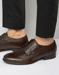 Base London Bailey Leather Oxford Shoes Brown