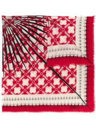 Haider Ackermann Patterned Scarf Red