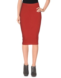 Adele Fado Knee Length Skirts Red