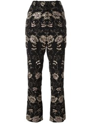 Givenchy Floral Embroidered Trousers Black